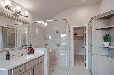 Master Bathroom - The San Jacinto Model in Spring Design Center Tilson Custom Home Photo