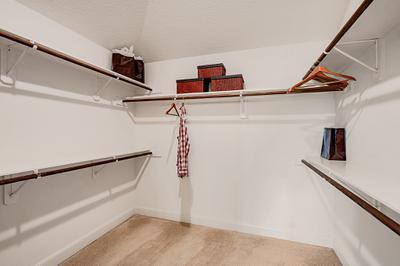 Master Closet - The San Jacinto Model in Spring Design Center Tilson Custom Home Photo