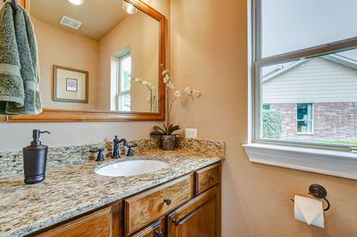 Powder Bath - The San Jacinto Model in Spring Design Center Tilson Custom Home Photo