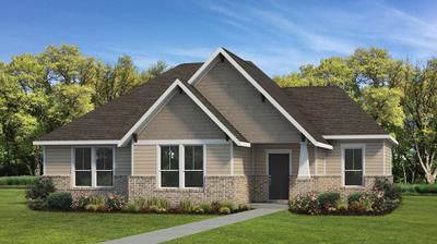 Elevation B | The Live Oak Tilson Custom Home Photo